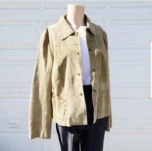 Danier Suede Studded Jacket